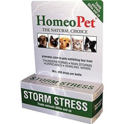HomeoPet Pro Storm Stress For Animals 80 lbs & Over, 5 ml