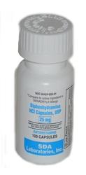 Diphenhydramine Hcl 25mg Capsules L Antihistamine For